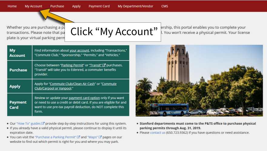 How to Order a Daily Parking Permit   Stanford Transportation