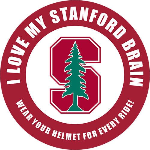I Love My Stanford Brain graphic seal