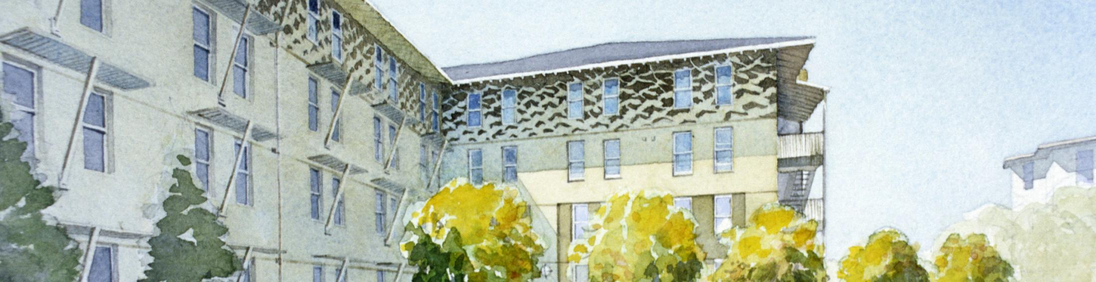 Rendering of Escondido Village Graduate Residences