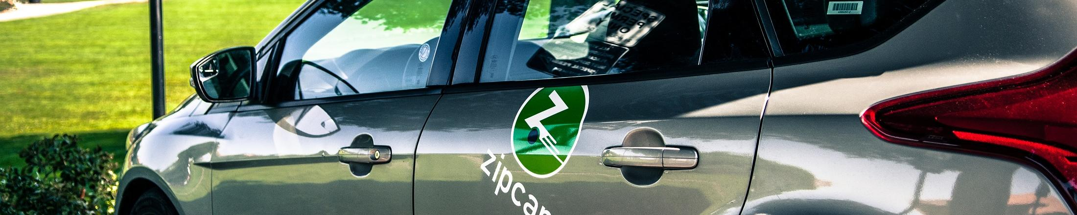 close up of parked zipcar