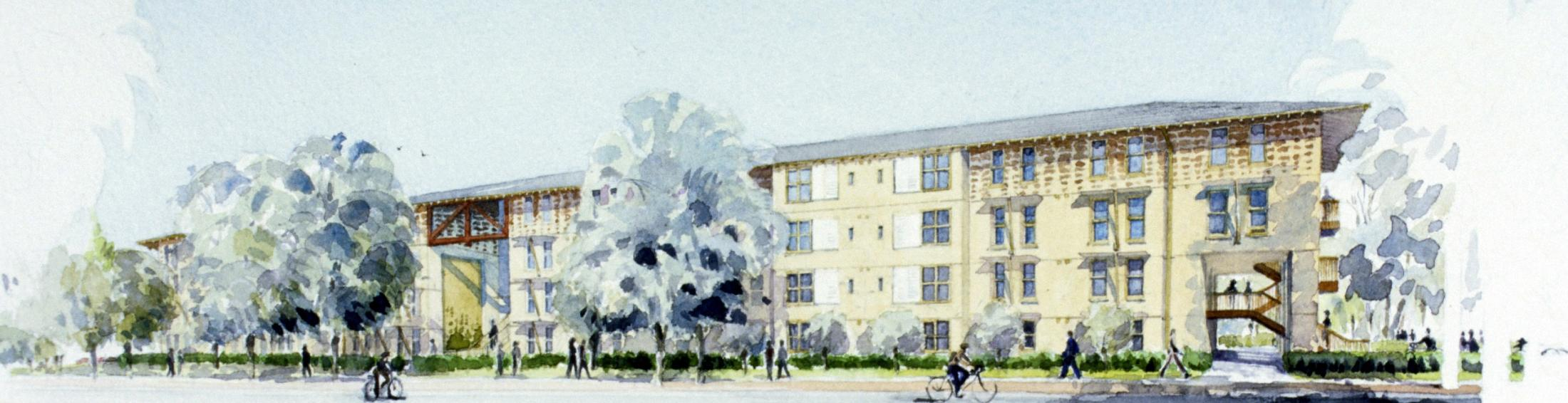 Rendering of Escondido Village Graduate Housing