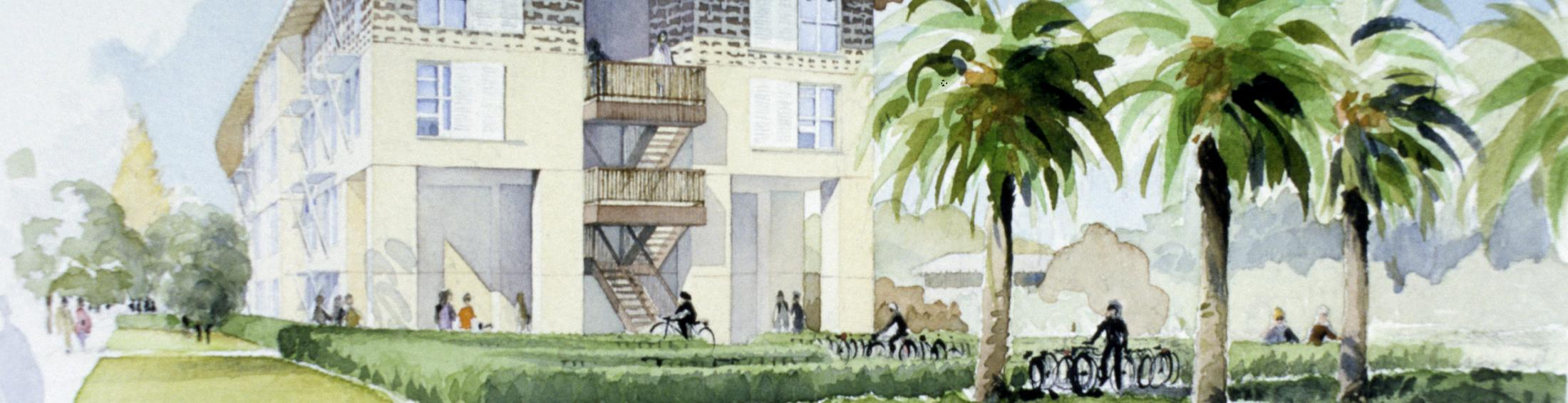 artist's rendering of the Escondido Village project