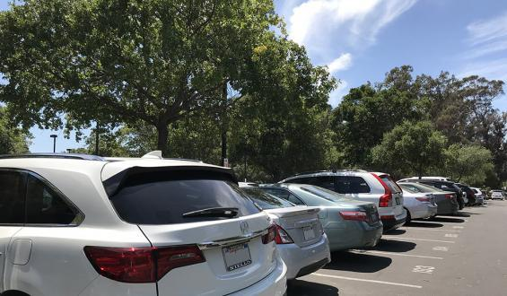 Photo of parked cars in lot