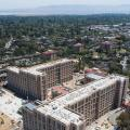 aerial shot of Serra Street and EVGR project